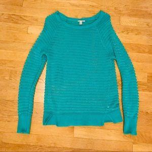 Halogen Turquoise Sweater